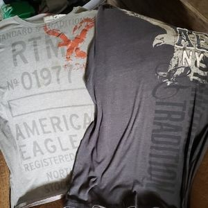 2 American Eagle mens t shirts